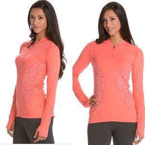 Vimmia Coral Lace Half Zip Yoga Pullover M